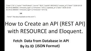 API Resourse (P-2): إنشاء واجهة برمجة التطبيقات (API Rest) مع الموارد بليغة في LARAVEL
