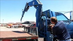 1999 GMC C7500 flatbed truck with crane for sale | sold at auction