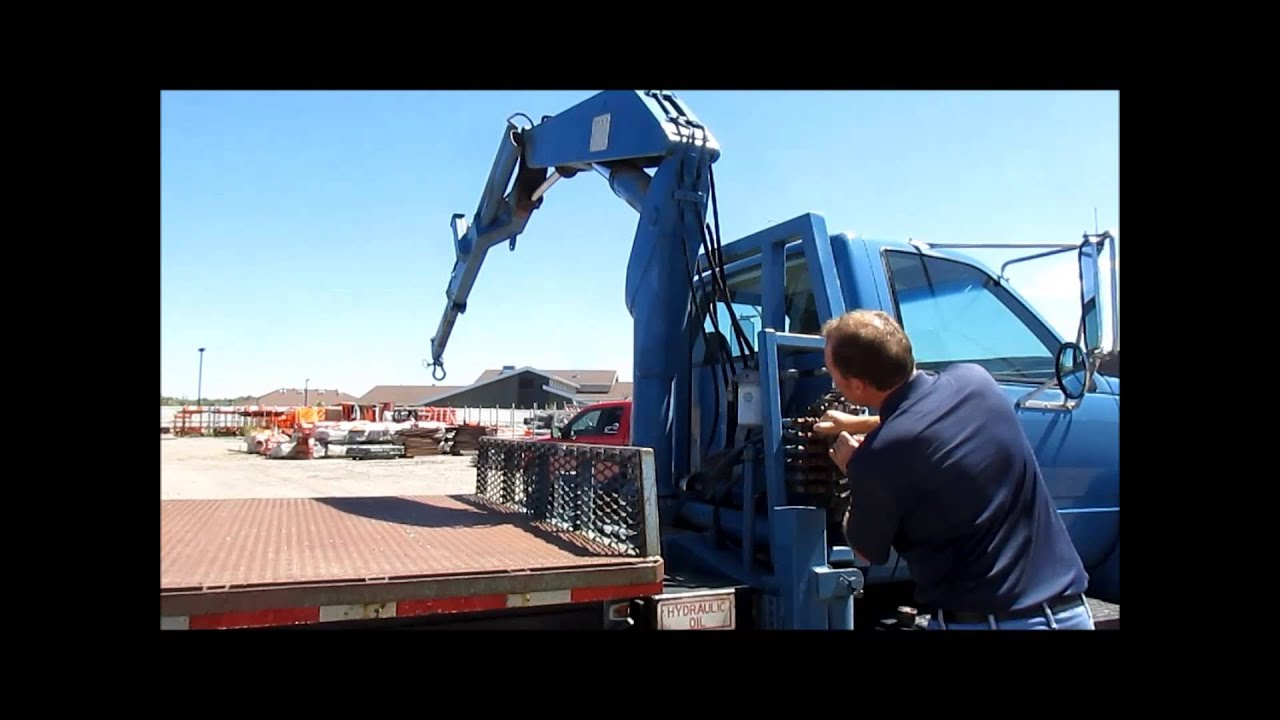 1999 gmc c7500 flatbed truck with crane for sale sold at auction august 27 2015