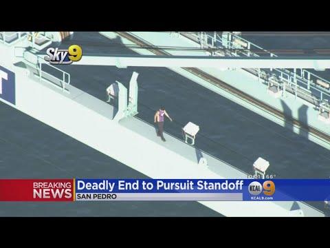 Deadly Ending To Pursuit After Man Climbs Port Of LA Crane, Gets Naked