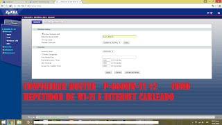 TUTORIAL001 - Configurar Router P-660HW T1 V2 como repetidor de internet para WIFI y cableado