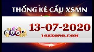 Thống kê cầu đẹp xổ số Miền Nam - TP.HCM, Đồng Tháp, Cà Mau Thứ 2 ngày 13-07-2020