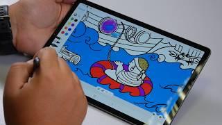 оБЗОР  Работа с пером S-Pen на Samsung Galaxy Tab S6