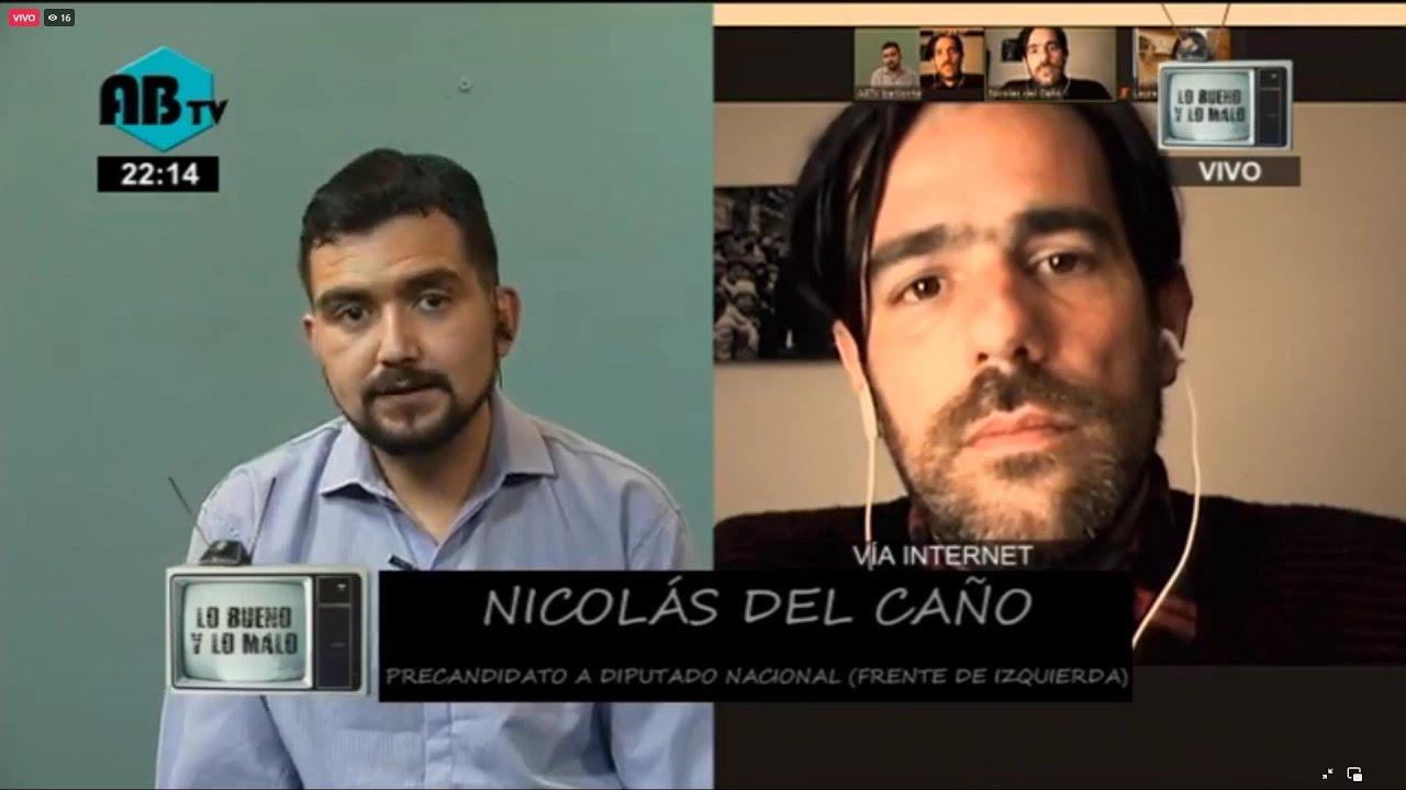 Nicolás del Caño y Laura Santillan precandidatos del Frente de Izquierda Unidad.