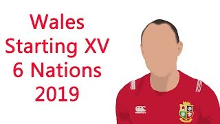 Wales Starting XV for 6 Nations 2019