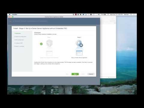 vSphere6.5 vCenter install from mac