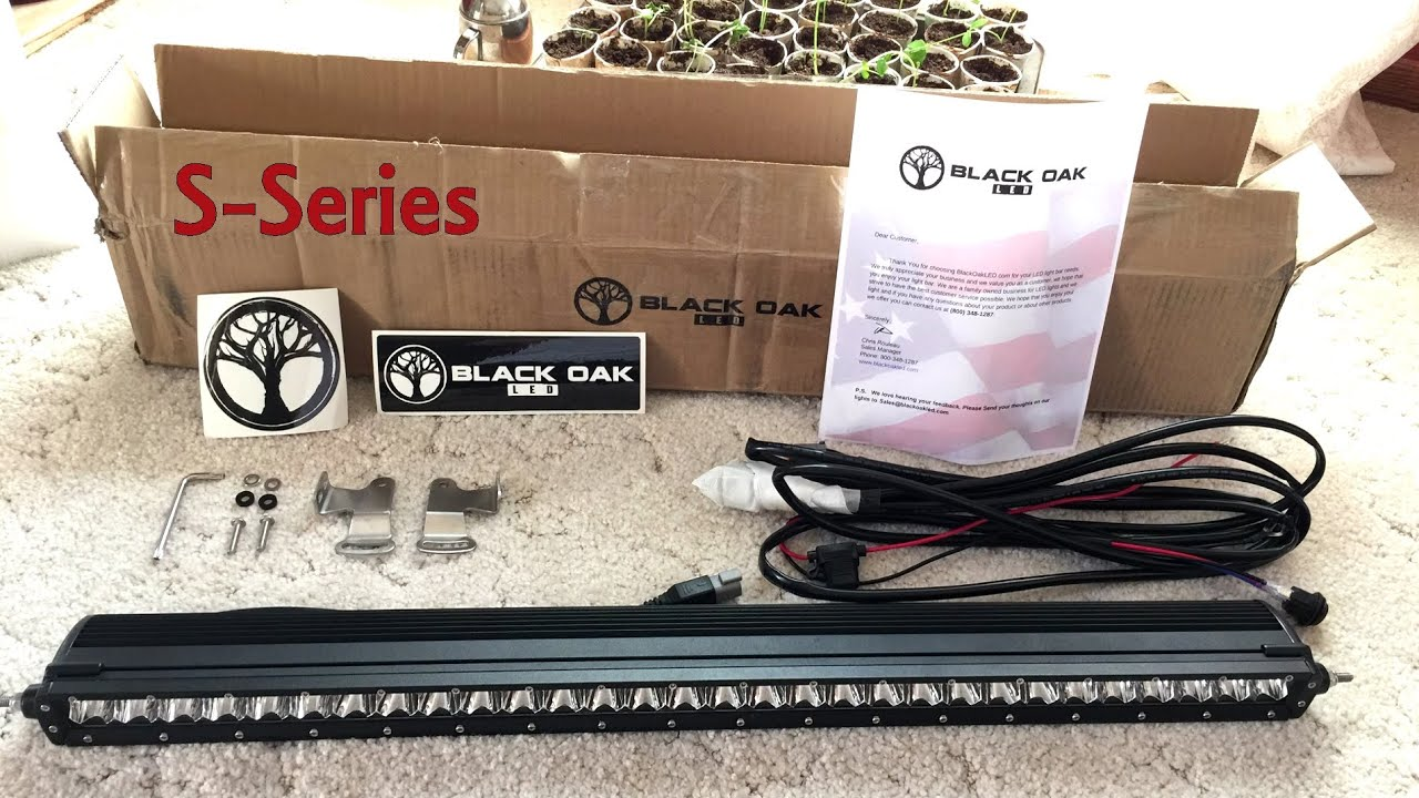 Black Oak Led 30 Inch Light Bar S Series Product Unboxing And Quick Demo By Onza04