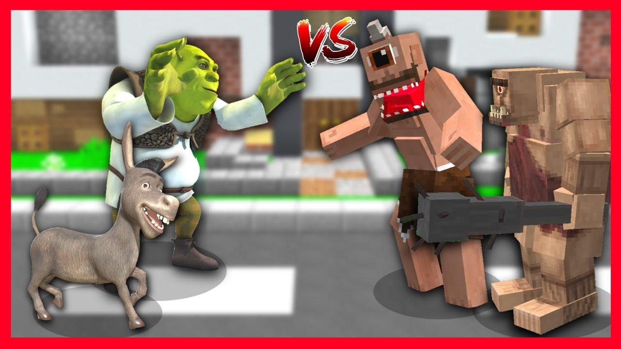 SHREK ÇETESİ VS TEPEGÖZ ÇETESİ! 😱 - Minecraft