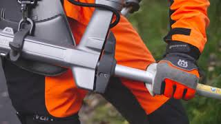 USQVARNA Battery Brushcutter 535iRXT - Ergonomic Workdays for Green Space Professionals