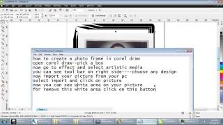 COREL TUTORIAL-PHOTO FRAME IN COREL DRAW