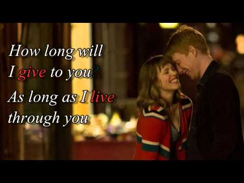 "How long will I love you (+ lyrics)""About time"" movie soundtrack"
