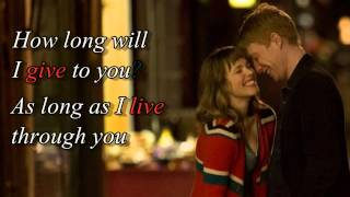 "How long will I love you (+ lyrics)   ""About time"" movie soundtrack"