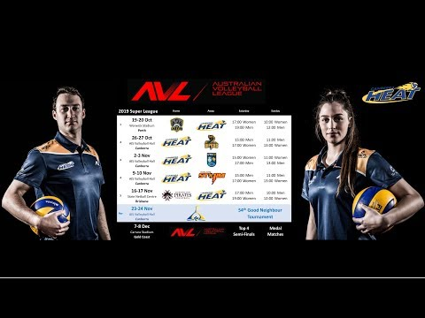 2019 Australian Volleyball League - Round 4 Sunday - Canberra Heat v Adelaide Storm