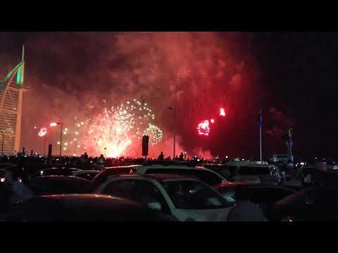 New year Dubai 2020 Burj Al Arab fireworks