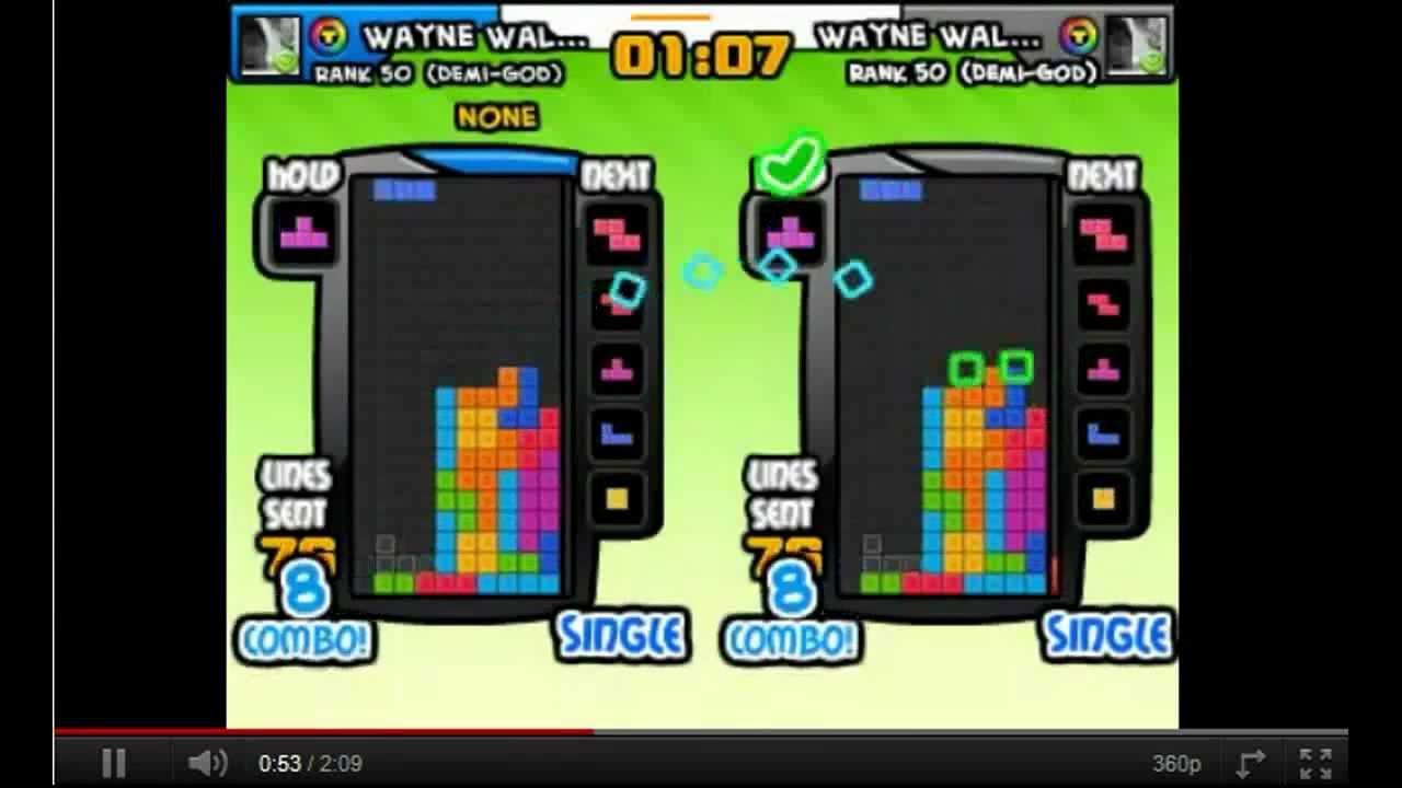 4-wide combo tutorial ,demonstration,guide ~ Tetris Battle Cheat