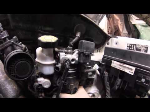 как поменять топливный фильтр на киа спортейдж 3 дизель