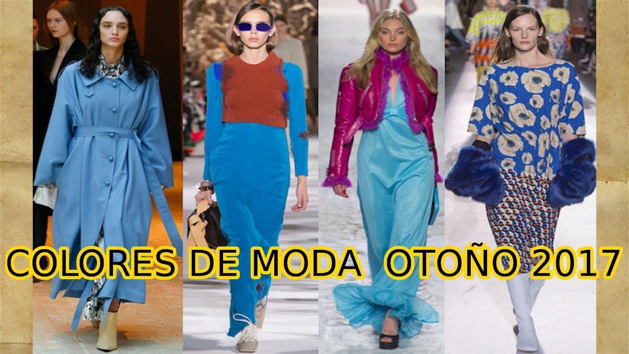 colores de moda oto o invierno 2017 18 youtube