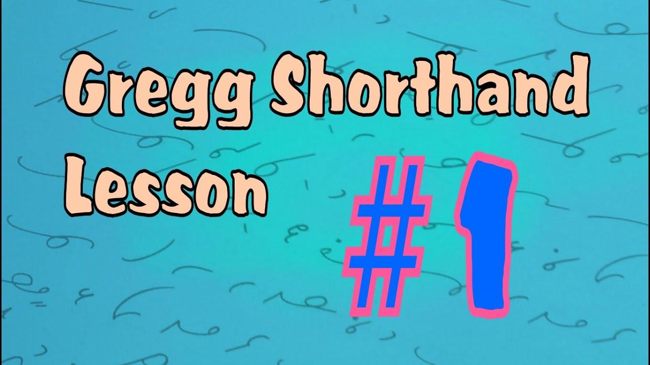 Gregg shorthand letters 1 youtube gregg shorthand letters 1 buycottarizona