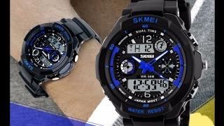 Спортивные цифровые часы с двойным циферблатом Skmei - Обзор, распаковка