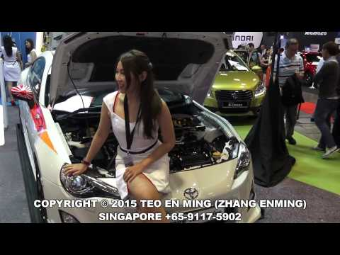 Singapore Motor Show 2015 Day 2 at Suntec City on 16 Jan 2015 Fri (Race Queens Edition)