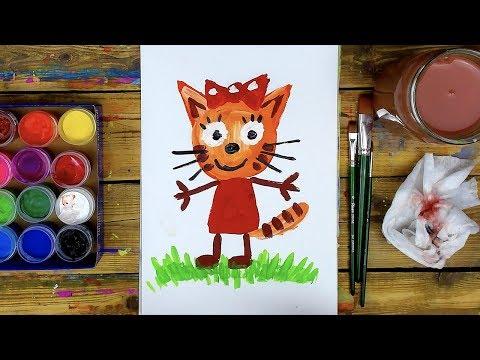Как нарисовать КАРАМЕЛЬКУ рисуем МУЛЬТИК красками ГУАШЬ
