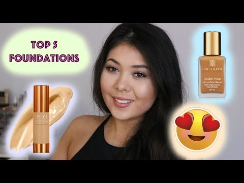 Top 5 Foundations ♡ Holy Grail Foundations ♡ Happy Laura