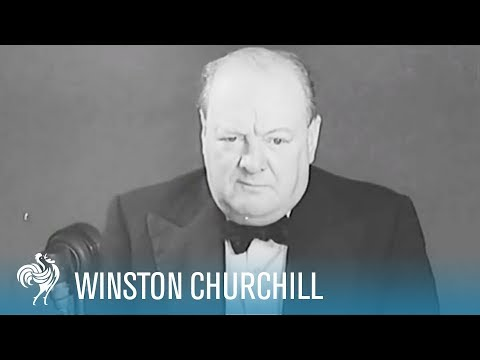 Winston Churchill Gives Speech on Nazi Propaganda & Uniting Against Hitler (1939) | War Archives