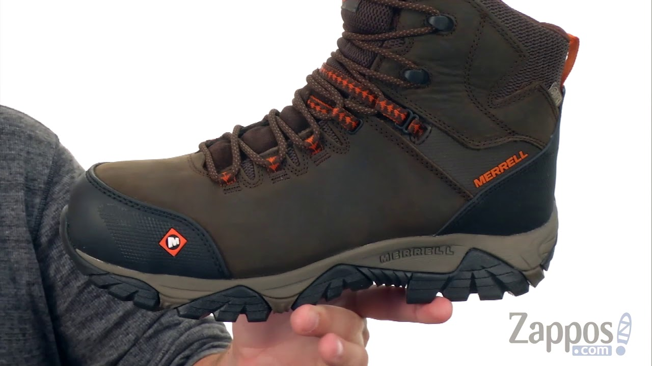 a3e250a796110f Merrell Work Phaserbound Mid Waterproof CT SKU: 8989458 - YouTube