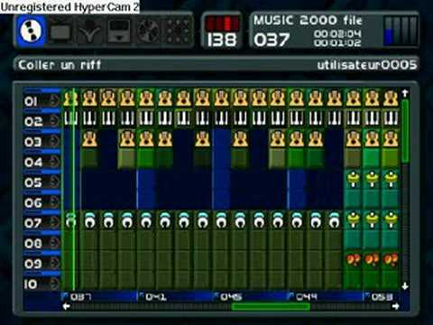 Yoshi theme Mario Kart 64 on Music 2000 MTV Music Generator