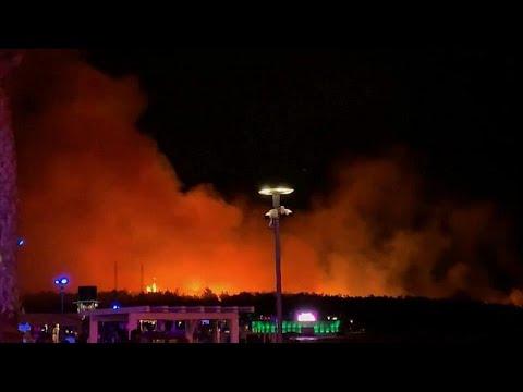 euronews (deutsch): Brand auf kroatischer Insel Pag