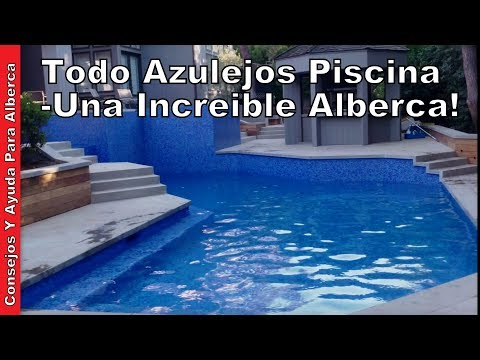 Todo azulejos piscina una incre ble alberca youtube for Azulejos para piscinas