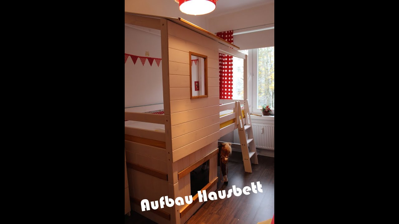 aufbau hausbett i hochbett i familyvlog youtube. Black Bedroom Furniture Sets. Home Design Ideas