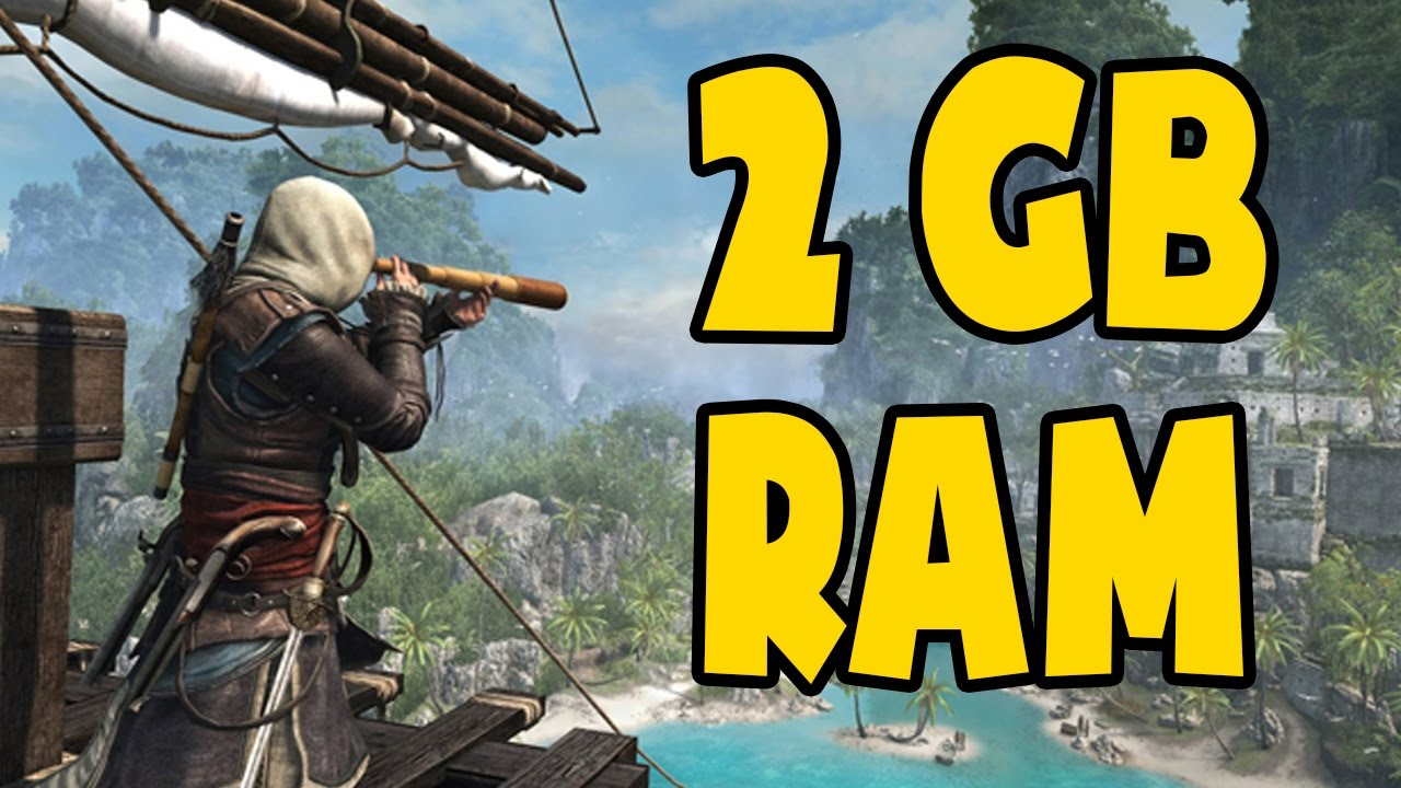 Assassin's Creed 4 Black Flag on 2GB Ram ( Low end PC) | Gameplay Tested