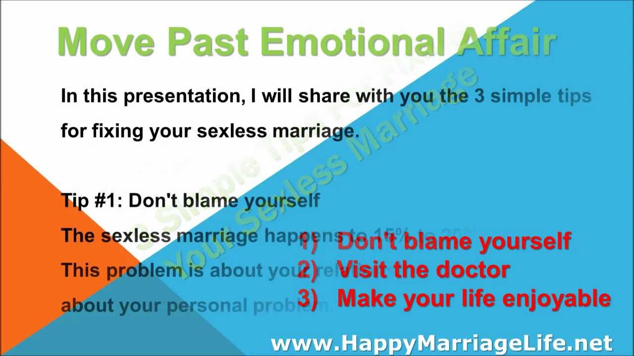 How to fix sexless marriage
