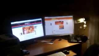 Моё рабочее место на два монитора