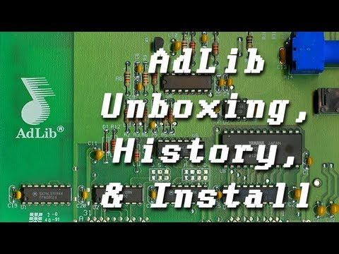 LGR  AdLib Sound Card  Part 1: Unboxing, History, & Installing