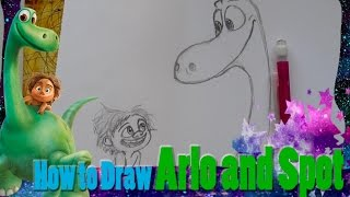How to Draw ARLO AND SPOT (from Pixar