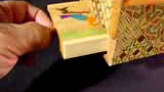 Opening A Vintage Japanese Wooden Secret Trick Musical Puzzle Box