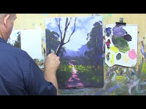 "Learn To Paint TV E20 ""A Country Path"" Landscape Painting in Acrylic For Beginners."
