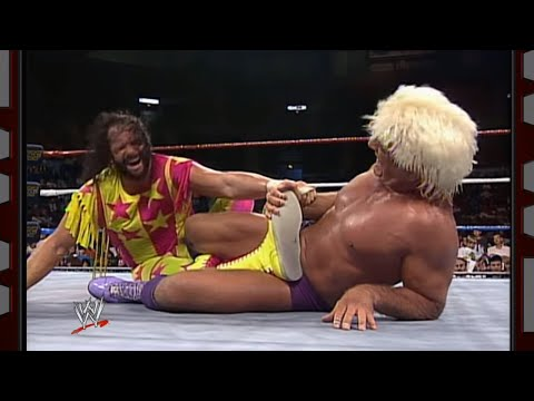 Randy Savage vs. Ric Flair - WWE Championship Match: Prime Time Wrestling: September 1, 1992 thumbnail