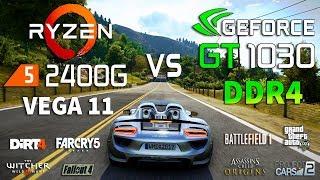 GT 1030 DDR4 vs Ryzen 5 2400G Test in 8 Games