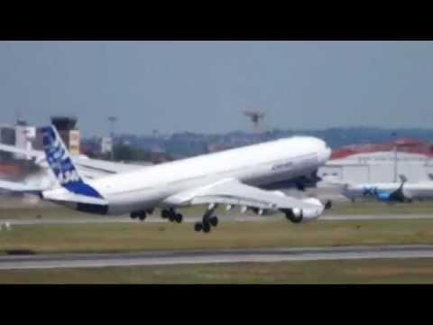 Airbus A340-600 impressive and scary take-off