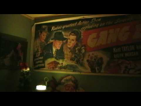OLD GANGBUSTERS BANNER 1942 HUGE MOVIE POSTER