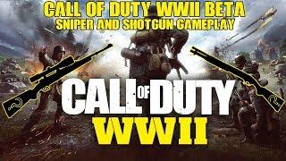 COD WW2: INSANE SHOTGUN INCENDIARY  GLITCH!! INSANE SNIPER PLAYS ON PC! BETA ACCESS