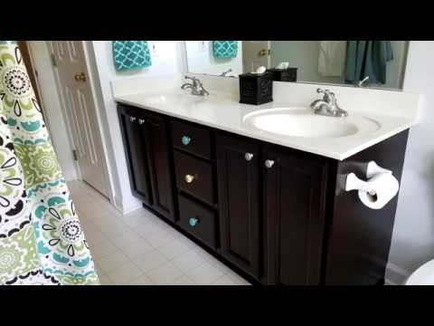 General Finishes Java Gel Stain important steps for any project!!  Bathroom Vanity Cabinet