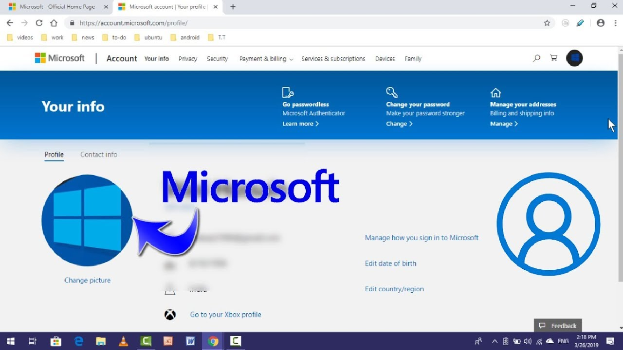 How to Add or Remove Profile Picture on Microsoft Account in Windows
