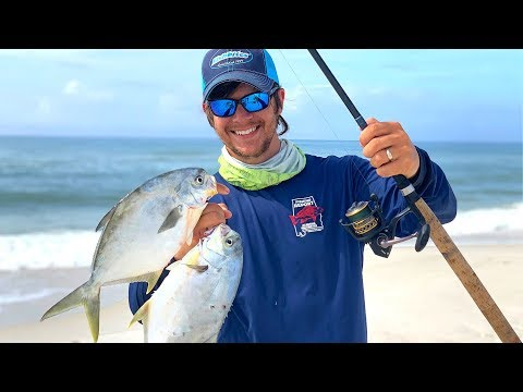 Light Tackle Surf Fishing For Pompano
