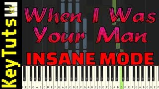 Learn to Play When I Was Your Man by Bruno Mars - Insane Mode