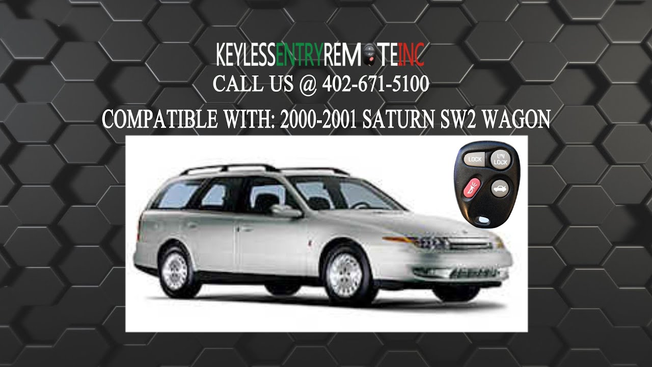 How to replace saturn sw2 wagon key fob battery 2000 2001