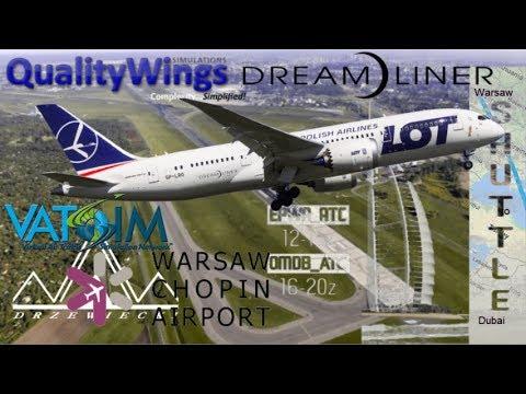 My First Qualitywings B787-8 Warsaw s̶e̶e̶s̶a̶w flight on Vatsim [FSX]